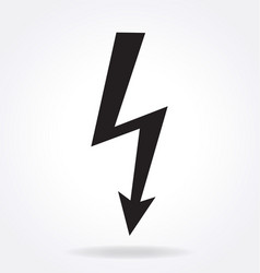High voltage lightning arrow vector