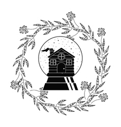 House of christmas season design vector