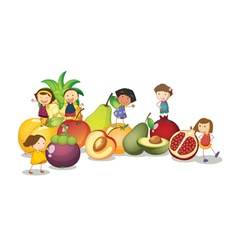 Kids Fruits Background vector
