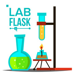 laboratory flask chemical laboratory vector image