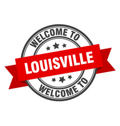 Louisville stamp welcome to louisville red sign vector