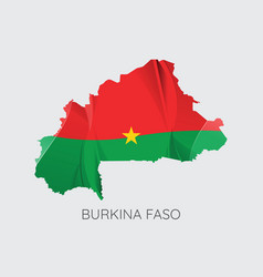 map of burkina faso vector image