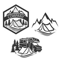 modern camping logo vector image