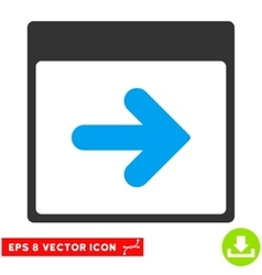 Next Calendar Day Eps Icon vector image