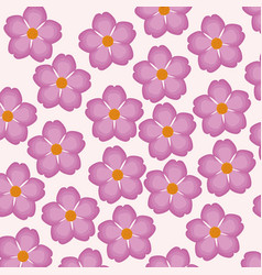 Pink flower decorative seamless pattern vector