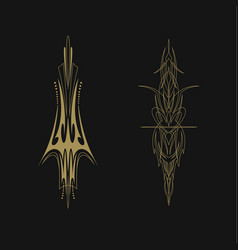 Pinstriping vehicle graphic decorative vinyl vector