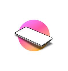 realistic smartphone mockup set mobile phone vector image