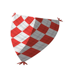 Red and white blanket picnic shadow vector