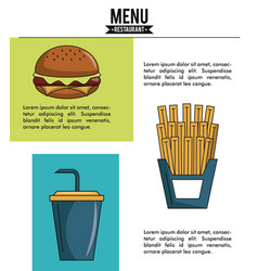 Restaurant menu infographic vector