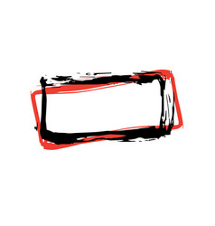 rough hand drawn square black isolated frame vector image