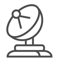 Satellite dish line icon antenna vector