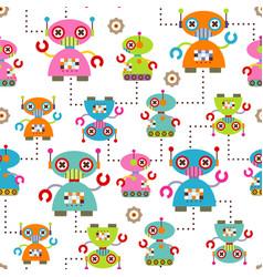 Seamless pattern robot vector