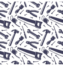 seamless pattern with different tools vector image