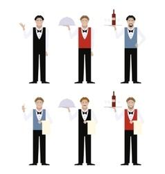 set waiters vector image