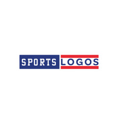 Sport-logo-blue vector