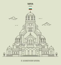 St alexander nevsky cathedral in sofia vector