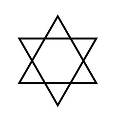 Star of david hexagram sign symbol of jewish vector