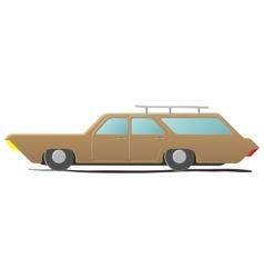Station wagon - cartoon car vector image