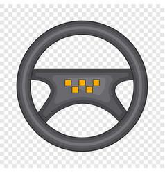 steering wheel taxi icon cartoon style vector image