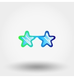 Sunglasses Stars Hipster fashion vector image