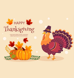 Thanksgiving card background design template vector