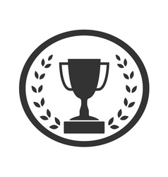 Trophy cup with Laurel wreath icon 4 vector
