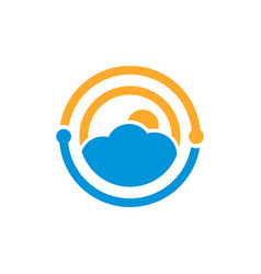 weather technology logo vector image