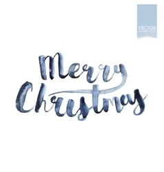 Wet brush watercolor lettering that says Merry vector image