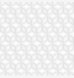 White cubes pattern seamless background vector