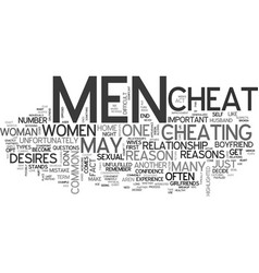 Why do men cheat on their partners text word vector
