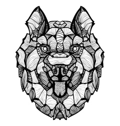Zentangle Dog Husky vector image