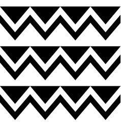 Zig zag seamless tribal pattern geometric vector