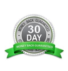 30 day money back guaranteed label vector image vector image