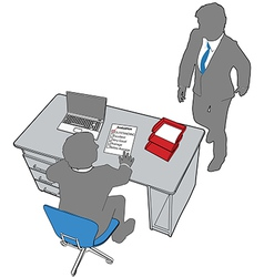 Business people human resources office evaluation vector image