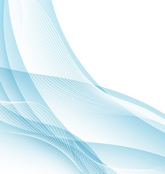 Modern water like swoosh wave border concept vector image