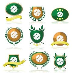 Tennis badges vector image vector image