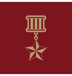 The medal icon honor symbol flat vector