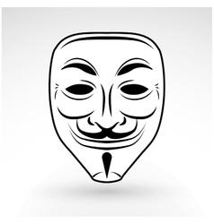Anonymous mask icon hacker logo design vector