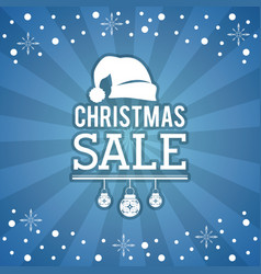 christmas sale flyer vector image