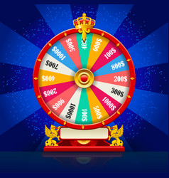 Fortune wheel realistic spinning lucky roulette vector