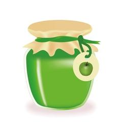 jar of apple jam vector image