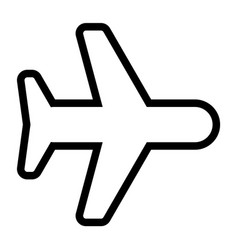 line airplane icon vector image