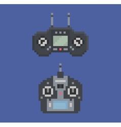 pixel art style of remote control radio controller vector image vector image