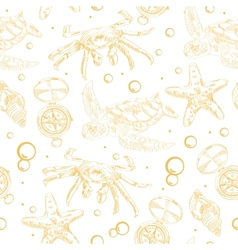 Seamless pattern with nautical elements vector image vector image
