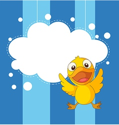 A stationery with a playful duckling vector image vector image