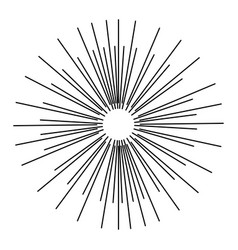 Abstract explosion lines fireworks light effect vector