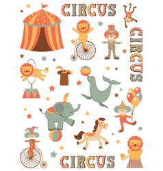 Circus in town vector image