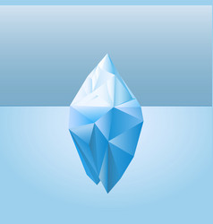 low poly style iceberg for infographic vector image