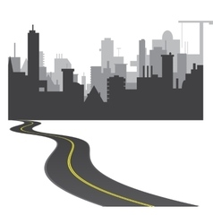 Road to town vector image vector image