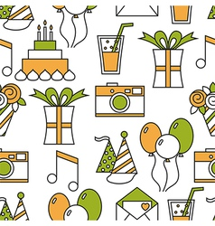 Seamless holiday pattern happy birthday vector image